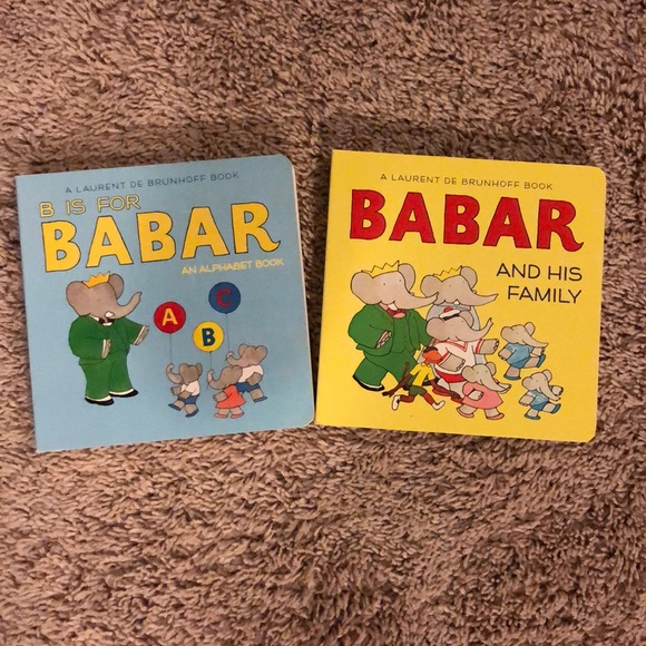 New Condition Babar Books, Set of 2